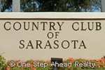 Country Club Of Sarasota community sign